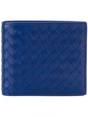 Складной бумажник Bottega Veneta. Цвет: синий