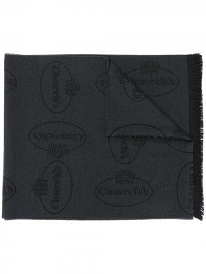 Churchs жаккардовый шарф с логотипом Church's. Цвет: черный