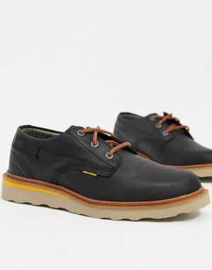 Черные кожаные туфли на шнуровке Caterpillar Jackson-Черный Cat Footwear