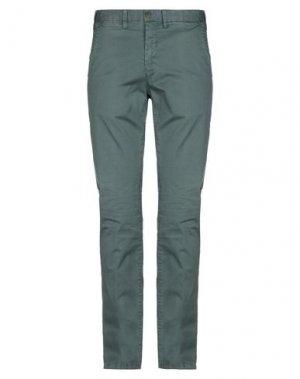 Повседневные брюки ERIC HATTON. Цвет: темно-зеленый