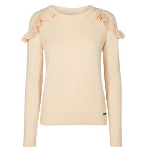 Пуловер с круглым вырезом, из тонкого трикотажа NUMPH. Цвет: розово-бежевый