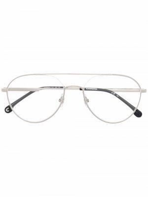 Солнцезащитные очки в массивной оправе Carrera. Цвет: серебристый