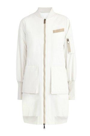 Двусторонняя куртка-бомбер с декором Мониль BRUNELLO CUCINELLI. Цвет: белый