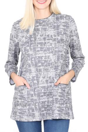 Блуза ODEKS-STYLE. Цвет: серый
