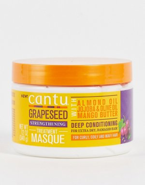 Восстанавливающая маска для волос глубокого действия с маслом виноградных косточек , 340 г-Бесцветный Cantu