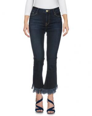 Джинсовые брюки-капри FRAME. Цвет: синий