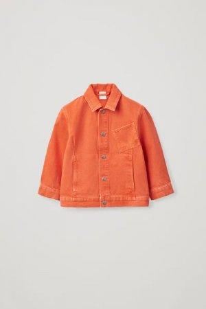 ДЖИНСОВАЯ КУРТКА С НАКЛАДНЫМ КАРМАНОМ COS. Цвет: оранжевый