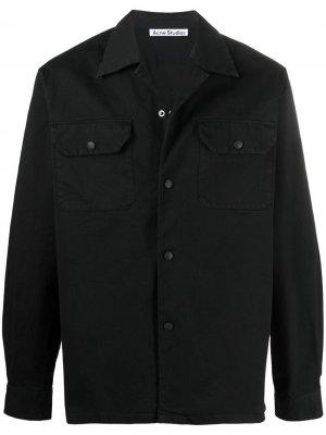 Рубашка свободного кроя Acne Studios. Цвет: черный
