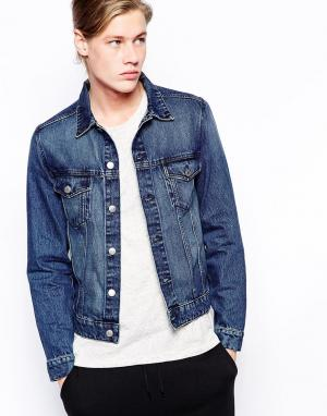 Джинсовая куртка Single Weekday. Цвет: синий