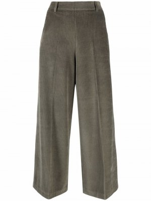 Cropped corduroy culottes Circolo 1901. Цвет: зеленый