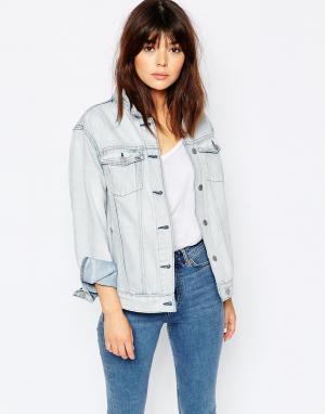 Джинсовая куртка бойфренда Weekday. Цвет: синий