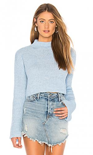 Пуловер debbie Lovers + Friends. Цвет: нежно-голубой