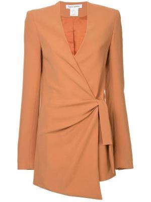Куртка с запахом Ballerina Bianca Spender. Цвет: коричневый