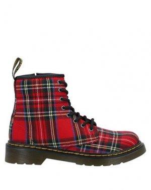 Полусапоги и высокие ботинки DR. MARTENS. Цвет: красный