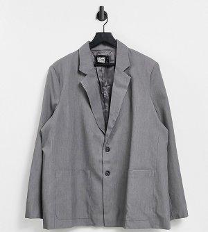 Серый блейзер в винтажном стиле унисекс Inspired Reclaimed Vintage