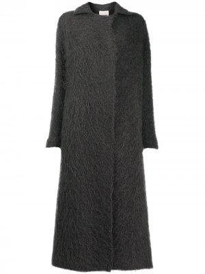 Фактурное пальто-кардиган Alysi. Цвет: фиолетовый