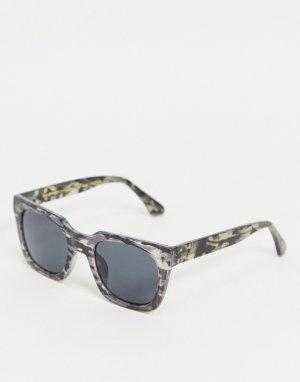 Серые солнцезащитные очки в стиле унисекс квадратной черепаховой оправе Nancy-Серый A.Kjaerbede