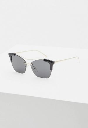 Очки солнцезащитные Prada PR 21US KUI5S0. Цвет: черный