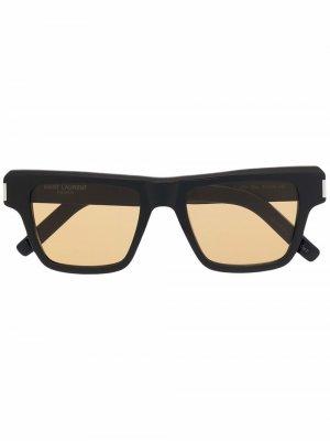 Солнцезащитные очки SL 469 в квадратной оправе Saint Laurent Eyewear. Цвет: черный