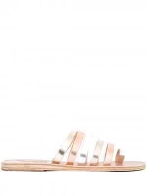 Сандалии Niki с отделкой металлик Ancient Greek Sandals. Цвет: золотистый