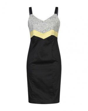 Платье до колена MANUELA RIVA. Цвет: черный