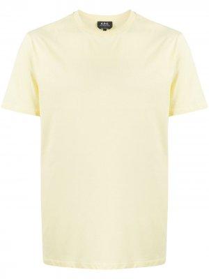 Базовая футболка A.P.C.. Цвет: желтый
