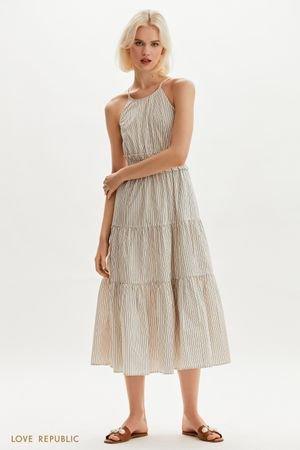 Платье макси с акцентной юбкой LOVE REPUBLIC