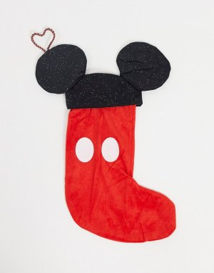 Маленький носок для новогодних подарков с изображением Микки Мауса -Черный Disney