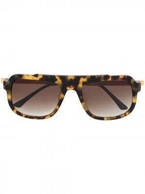 Солнцезащитные очки Mastery в квадратной оправе Thierry Lasry. Цвет: коричневый