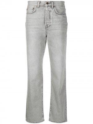 Укороченные джинсы Mece прямого кроя Acne Studios. Цвет: серый
