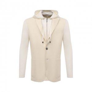 Шерстяной пиджак Eleventy. Цвет: кремовый