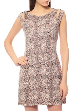 Платье Comma. Цвет: бежевый