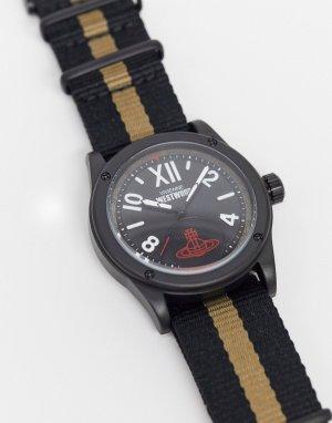 Часы с полосой на ремешке -Черный Vivienne Westwood