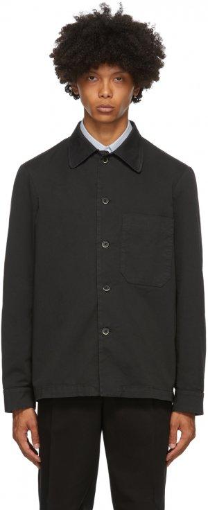 Black Cedrone Overshirt Barena. Цвет: 590 nero