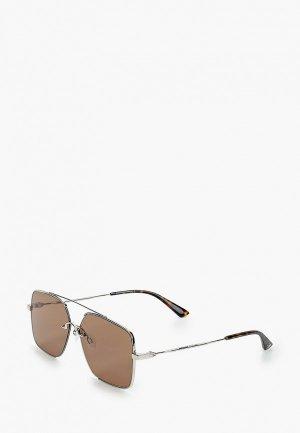 Очки солнцезащитные McQ Alexander McQueen MQ0264SA 002. Цвет: серебряный