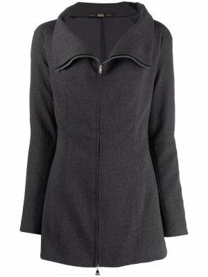 Куртка 1990-х годов с воротником-воронкой Gianfranco Ferré Pre-Owned. Цвет: серый