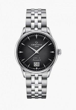 Часы Certina DS-1 Big Date. Цвет: серебряный