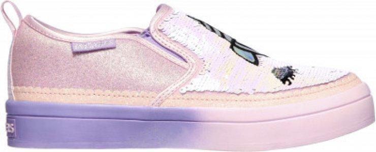 Слипоны для девочек Twi-Lites 2.0, размер 31 Skechers. Цвет: розовый