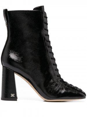 Ботильоны на шнуровке Sam Edelman. Цвет: черный