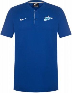 Поло мужское Zenit Saint Petersburg, размер 54-56 Nike. Цвет: синий