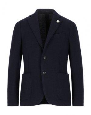 Пиджак LARDINI. Цвет: темно-синий