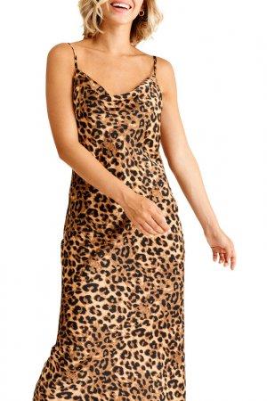 Платье MUA. Цвет: леопардовый