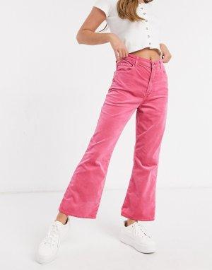 Расклешенные джинсы розового цвета с завышенной талией Julia-Розовый цвет J Brand