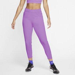 Женские слегка укороченные брюки для бега Nike Essential - Пурпурный