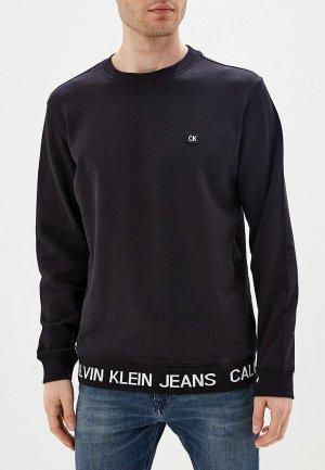 Свитшот домашний Calvin Klein Jeans. Цвет: черный