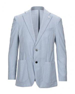 Пиджак LUIGI BIANCHI Mantova. Цвет: лазурный