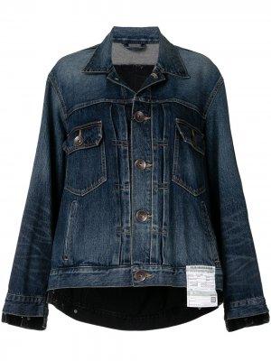 Джинсовая куртка оверсайз Maison Mihara Yasuhiro. Цвет: синий