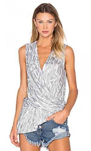 Майка tullis YFB CLOTHING. Цвет: серый