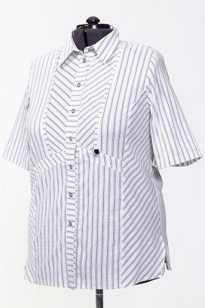 Блузка CHALOU. Цвет: белый