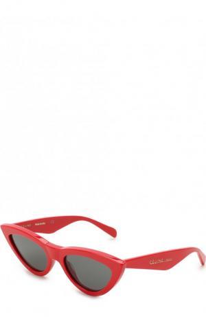 Солнцезащитные очки Celine Eyewear. Цвет: красный